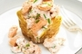 Baked Potatoes with Salmon and Chive Mayo Filling