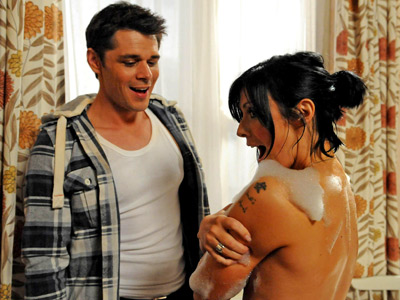 Coronation street - michelle connor kym marsh - corrie builder soap