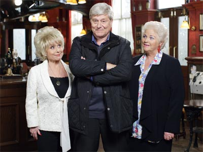 EastEnders pat, peggy and love interest harvey