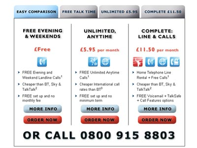 Supanet is cheaper than bt! call packages
