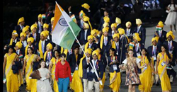 India demands apology from locog: unknown volunteer joined India team parade