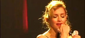 madonna breaks down while singing like a virgin