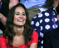 Pippa Middleton enjoyed tennis match despite poor book sales