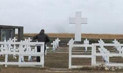 Argentine war cemetery in the Falklands vandalised