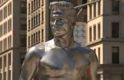 David Beckham immortalised in silver statue for new H&M underwear campaign