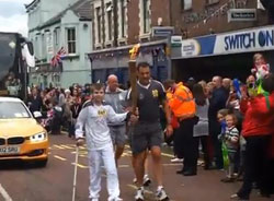 Teenager who fell over with Olympic torch gets a new leg