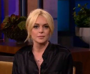 Lindsay Lohan talked about rehab and addiction with David Letterman