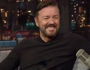 Ricky Gervais being rushed to hospital stops his latest filming
