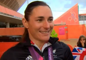 Sarah Storey took Britain's first gold in Paralympics 2012