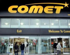 Comet launches huge sale following their administration