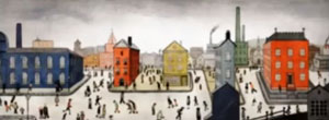 Google doodle honours LS Lowry's 125th birthday