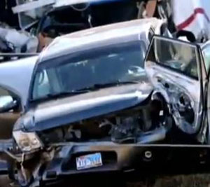 Thanksgiving catastrophic pile up kills two in Texas