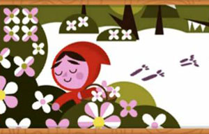 Google Doodle shows Brothers Grimm's Little Red Riding Hood
