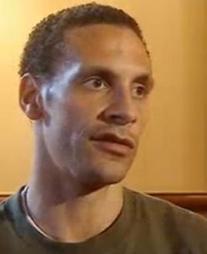 Rio Ferdinand wounded; hit by coin from crowd during Manchester derby