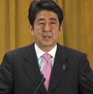 Japan's new PM LDP's Shinzo Abe warns China over Senkakus