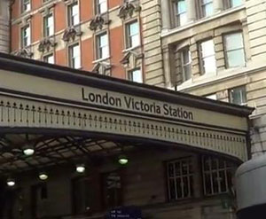 London's Victoria station evacuated due to fire on train