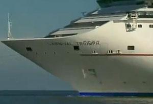 Crippled cruise ship Carnival Triumph docks in Alabama