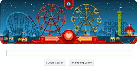Google Doodle marks George Ferris' birthday on Valentine's Day