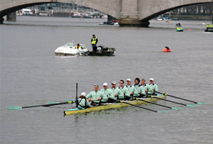 Fierce Rowing Competition Near At Hand For The Annual Boat Race