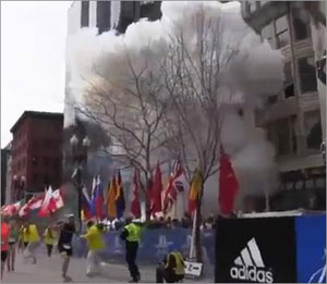 Boston marathon blasts kill three and injure many more