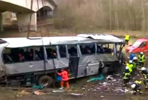 Five killed in Belgium bus crash