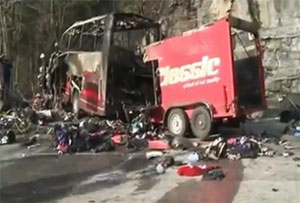 Driver killed and others injured in French Alps coach crash