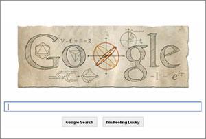 Google Doodle marks Leonhard Euler's 306th Birthday