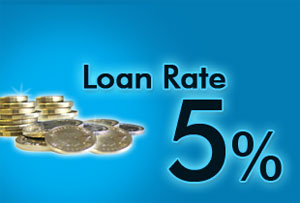 Focus on: Grab a market-leading loan rate at 5%!