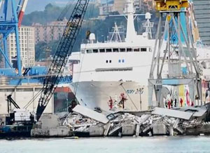 Italy ship crash: 7 dead and 2 missing