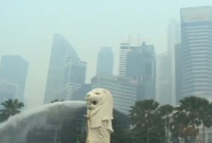 Singapore shrouded in fire smog