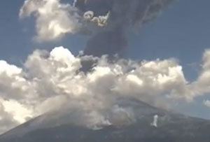 Powerful volcano near Mexico City erupts