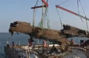 German WWII bomber raised from English Channel