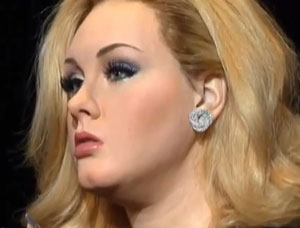 Adele's wax figure unveiled in London