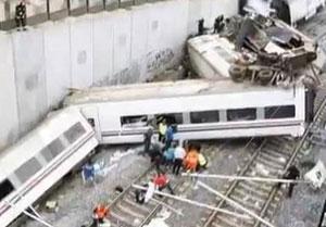 Spain train crash kills many