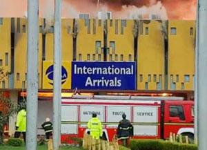 Fire at Nairobi Airport