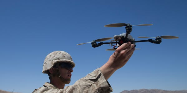Marines Training Drones and Robots