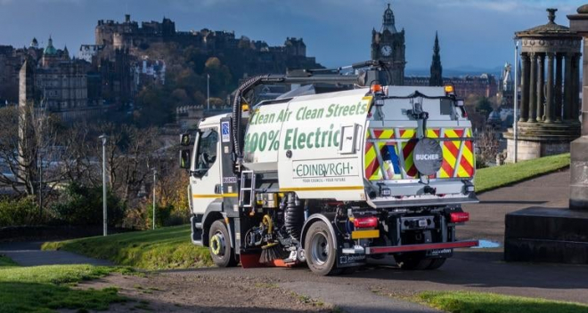 Edinburgh's all Electric Street Sweeper