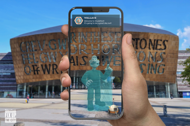 Cardiff's Wallace and Gromit Trail App Game