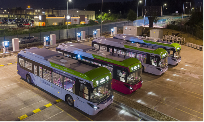 Glasgow Electric Busses
